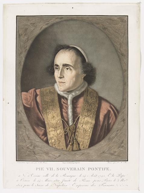 , 'Pie VII. Souverain Pontife ,' 1804, Château de Fontainebleau