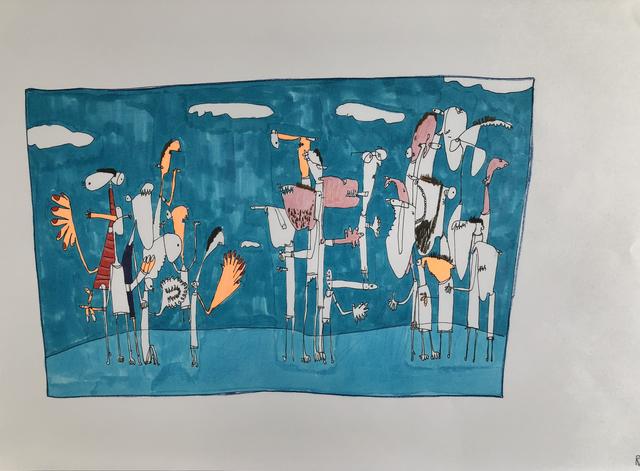 , 'Pandilla 2,' 2018, Allouche Gallery