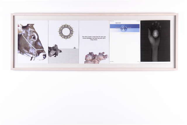 Tue Greenfort, 'One World One Profit', 2004, Print, Series of 5 collages, KÖNIG GALERIE