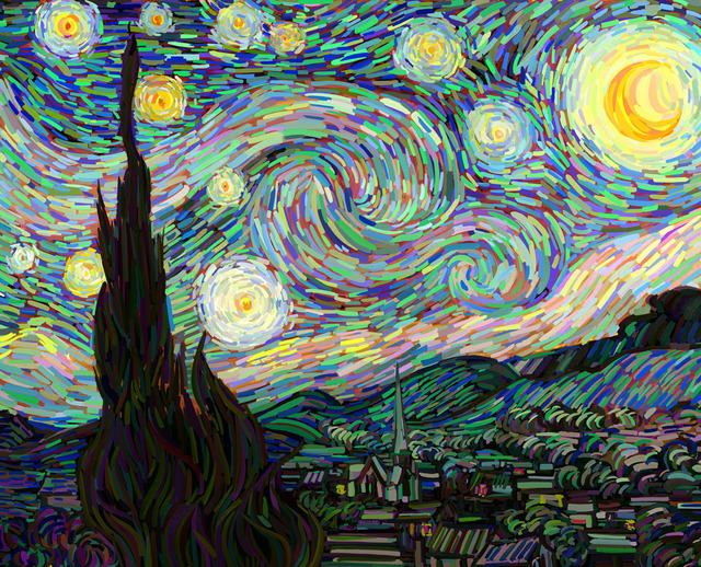 , 'Van Gogh as a pretext - The Starry Night No. 2,' 2014, RGR+ART