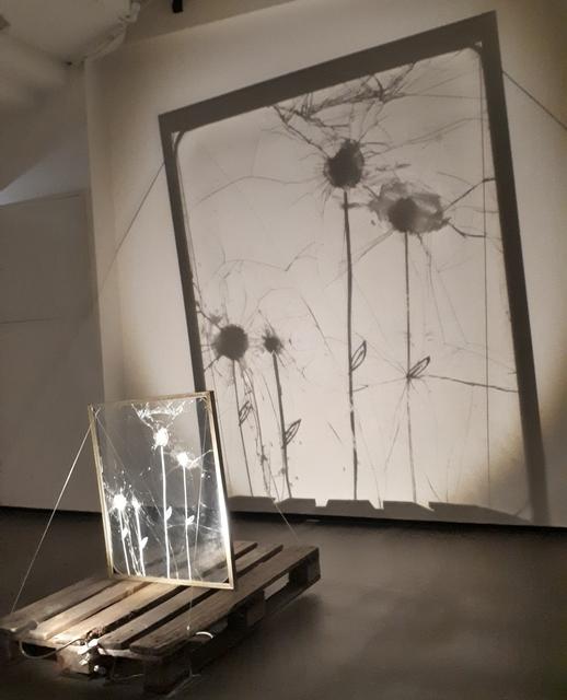 Sergey Rozhin, 'Dandelions', 2014, Sculpture, Found glass, white marker, MONEV Contemporary