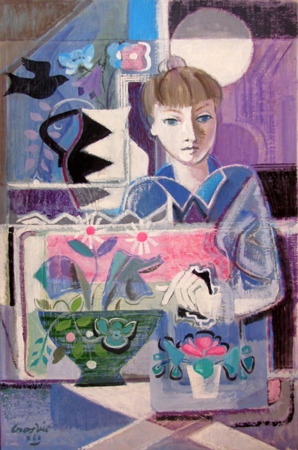 , 'Girl with Flowers,' 1991, The Scottish Gallery