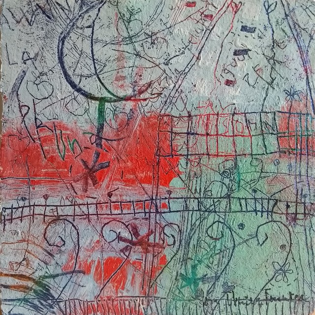 Coia Ibañez, 'Cançó des del balcó', 2019, Painting, Acrylic on paper, Anquins Galeria