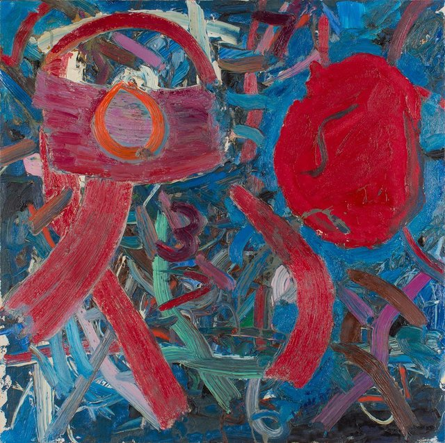 Jay Milder, 'Vibrant Abstract Rhino Horn Expressionist Painting', 1973, Lions Gallery