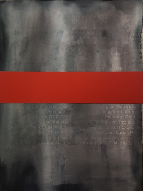 , 'Bild mit Banderole (rot),' 2017, Galerie Elisabeth & Klaus Thoman