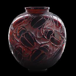 "Rare ""Gros Scarabées"" vase"
