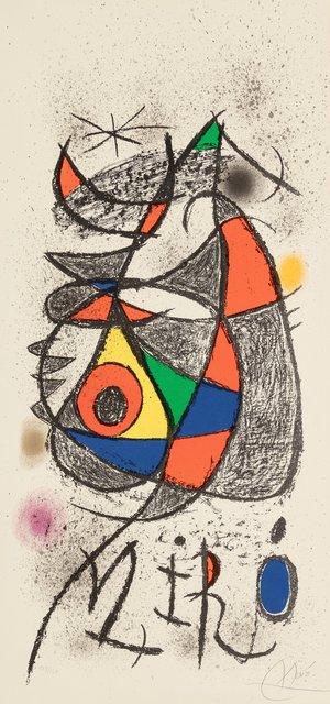 Joan Miró, 'Poster for exhibition,'Peintures, Gouaches, Dessins', 1972, Heritage Auctions