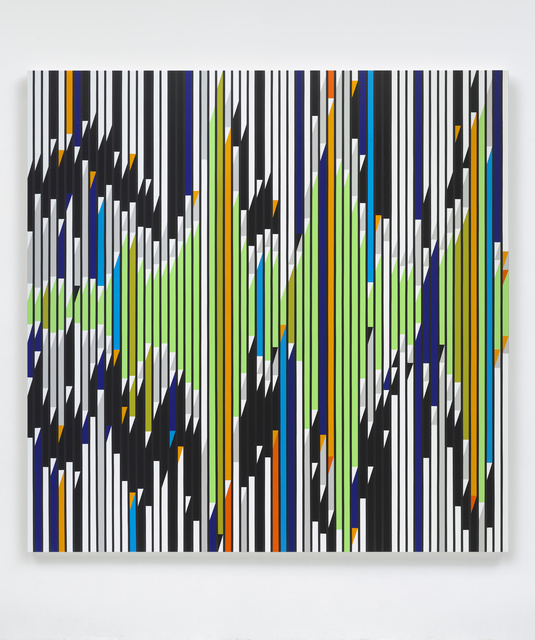 Sarah Morris, 'Machines do not make us into Machines [Sound Graph]', 2019, White Cube