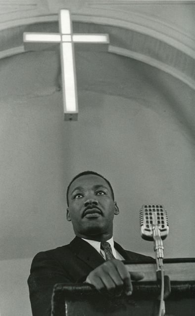 , 'Martin Luther King Jr. Addressing A Meeting Of The Montgomery Improvement Association, Which Was Founded In 1955 To Organize The Bus Boycott. A Year Later, The Bus System Was Integrated,' 1958, Steven Kasher Gallery