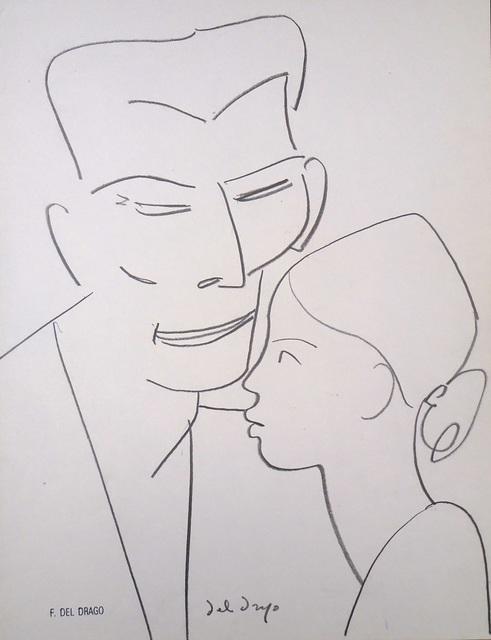 Francesco del Drago, 'Father and Child', XX Century, Wallector
