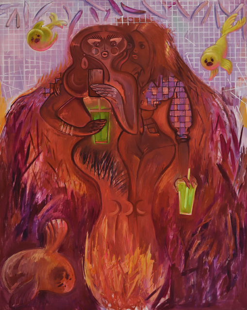 Delia Brown, '@joan of juice', 2017, Tibor de Nagy