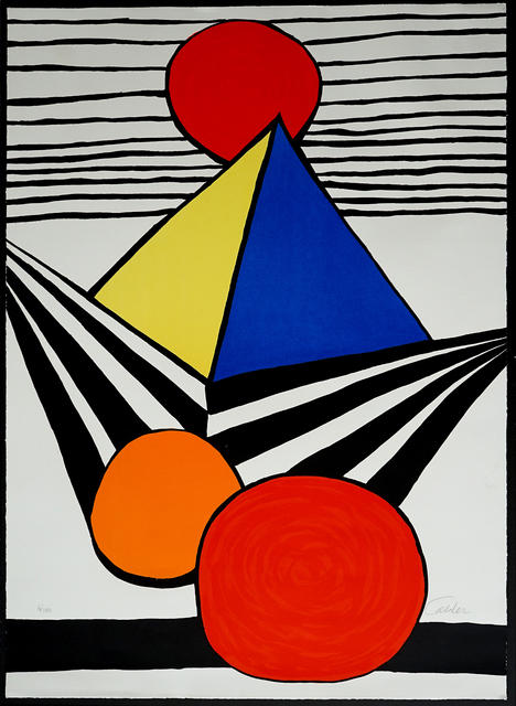 Alexander Calder, 'Pyramid and Red Sun, from La Mémoire élémentaire', 1978, Pascal Fine Art