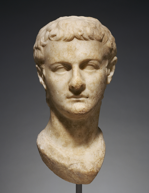 'Portrait Head of Caligula',  about 40, Marble, J. Paul Getty Museum