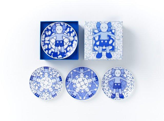 KAWS, 'Holiday Taipei Ceramic Plate Set (Set of 4)', 2019, Lougher Contemporary Gallery Auction