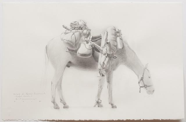 , 'Study for 'Equine Impedimenta' - Tully's Burden (off side view RH),' 2017, Australian Galleries