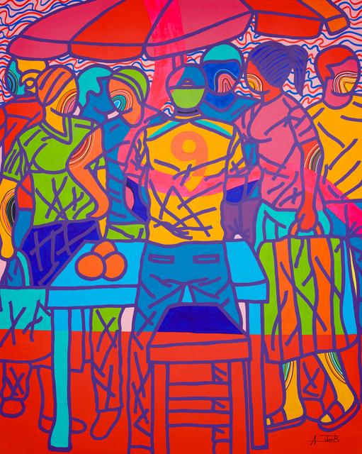 Ajarb Bernard Ategwa, 'Market Boy', 2018, Painting, Acrylic on canvas, Jack Bell Gallery