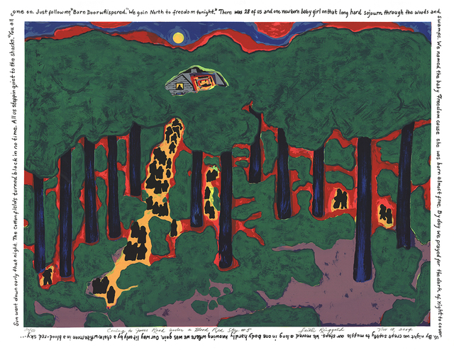 Faith Ringgold, 'Coming to Jones Road Under a Blood Red Sky #5', 2004, ArtWise