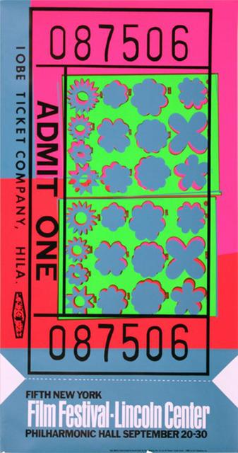 , 'Lincoln Center Ticket,' 1967, Verosa