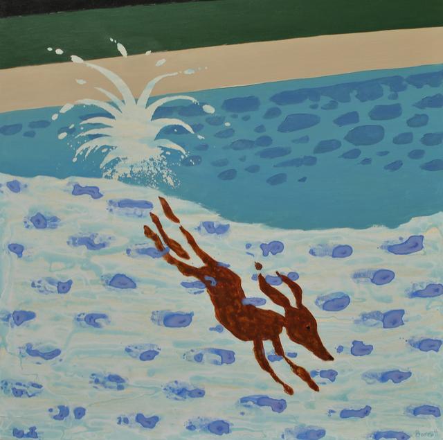 , 'Hockney's Dog (Pool),' 2017, Sarah Wiseman Gallery