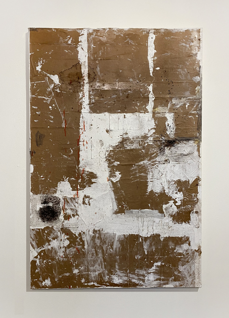 Stephen Lapthisophon, 'Skin', 2020, Painting, Paper, latex, India ink, coffee & oil paint on canvas, Conduit Gallery