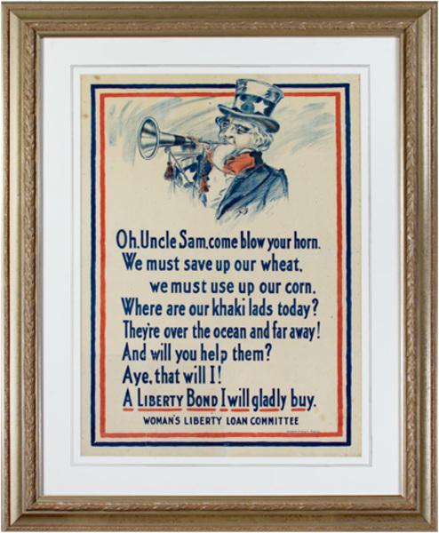 Unknown, 'World War I Poster - Uncle Sam', 1917, David Barnett Gallery