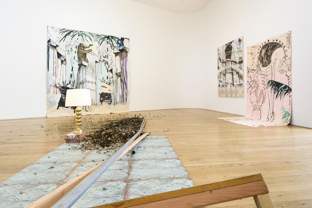 "Installation view Mie Olise Kjærgaard, ""Bastard Monuments,"" 2016."