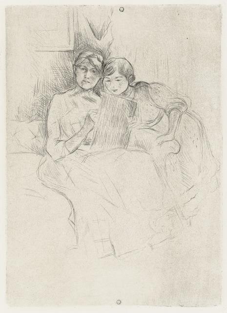 , 'Berthe Morisot dessinant, avec sa fille,' ca. 1889, Galerie d'Orsay