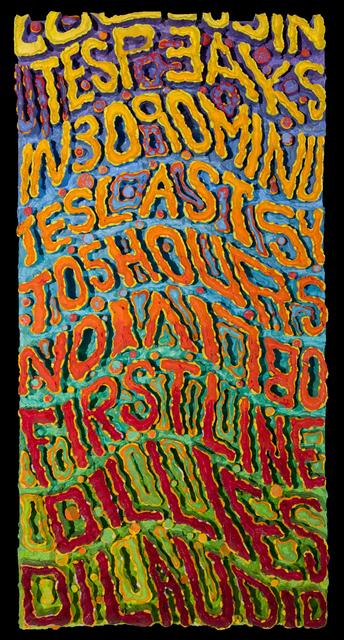 Bruce Pearson, 'Oblivion', 1994, Track 16 Gallery