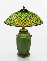 "A Rare ""Fish Scale"" Table Lamp"