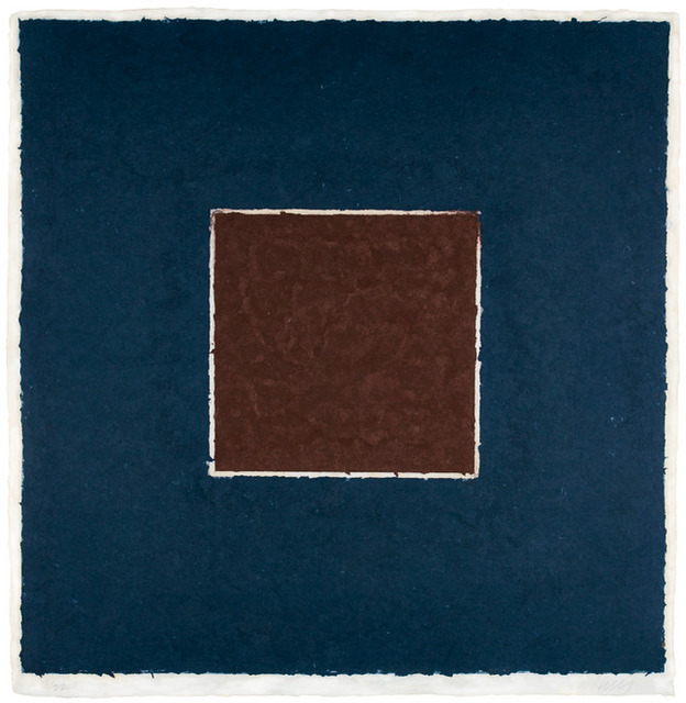 Ellsworth Kelly, 'Colored Paper Image XX (Brown Square with Blue), from Colored Paper Images', 1976, Upsilon Gallery