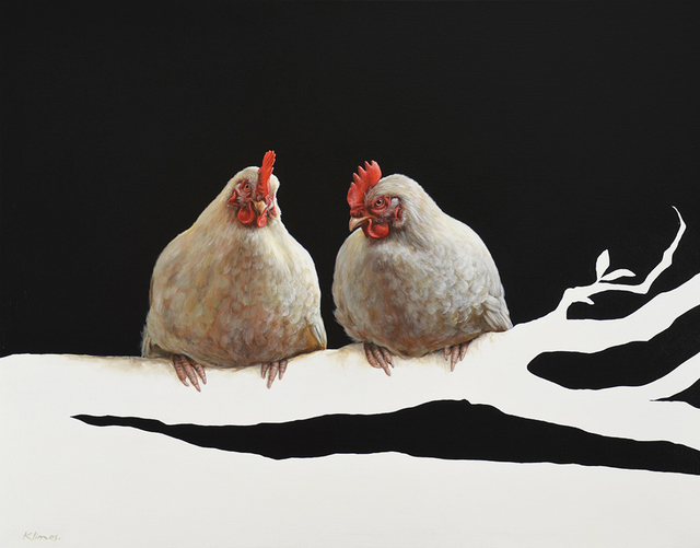, 'Miep the Chicken and Lellebel the Chicken ,' 2015, Plus One Gallery