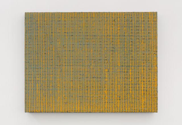 , '黄色的线 - 绿灰 Yellow Lines - Green and Gray,' 2018, Aye Gallery
