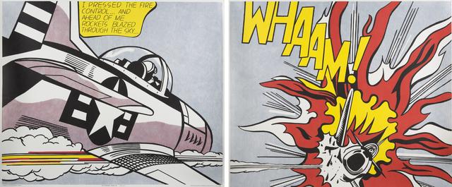 Roy Lichtenstein, 'Whaam! (diptych)', 1967, Print, Offset lithograph on paper, Julien's Auctions