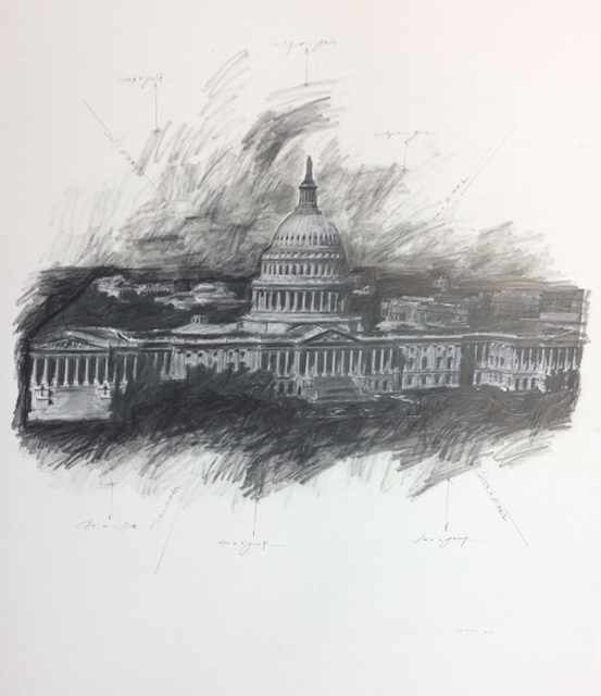 , 'United States Capitol, Study #1,' 2014, Octavia Art Gallery