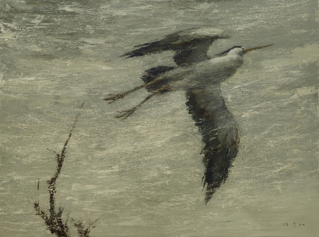 , 'A Heron,' 2018, Hakgojae Gallery