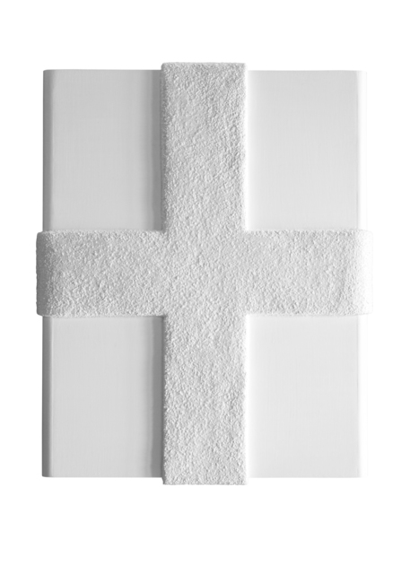 Catharina van de Ven, 'Cross White', 2020, Sculpture, Wood, glass, resin, paint, epoxy, textiles, Priveekollektie Contemporary Art | Design