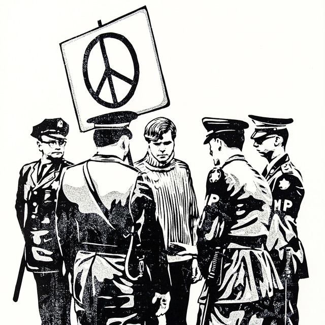 Shepard Fairey, 'Peaceful Protestor', 2017, ArtSoul