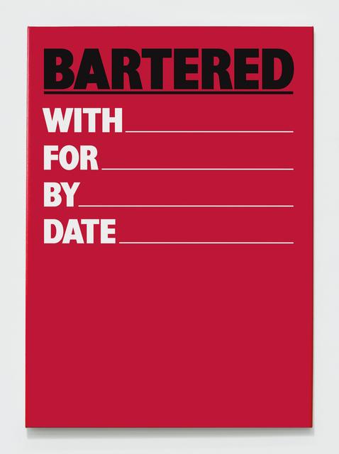 , 'Bartered,' 1984-2018, The Mayor Gallery