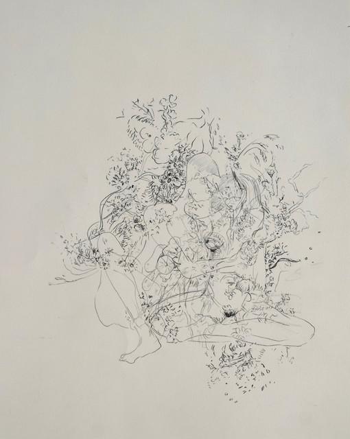 , '... and then we started a revolution of desire (Im Lustgarten),' 2018, Galerie Heike Strelow
