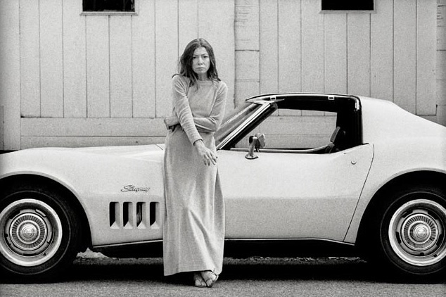 , 'Joan Didion in front of her Stingray, Hollywood, CA,' 1970, Robert Berman Gallery