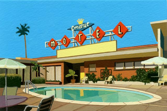 Andy Burgess, 'Coronet Motel', 2019, Cynthia Corbett Gallery