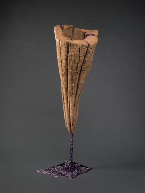 Shang-Yi Hua, 'Abundant 豐盛', 2018, Sculpture, Drift Wood, Amethyst, Steel, Resin, Artrue Gallery