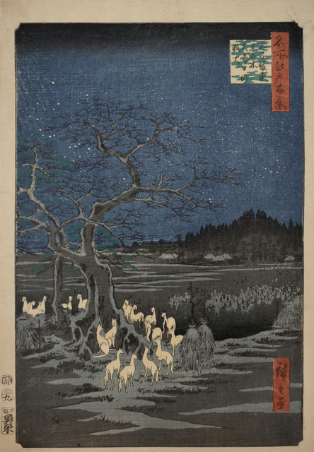 , 'Foxfires at New Year's Eve at Changing Tree,' 1857, Ronin Gallery