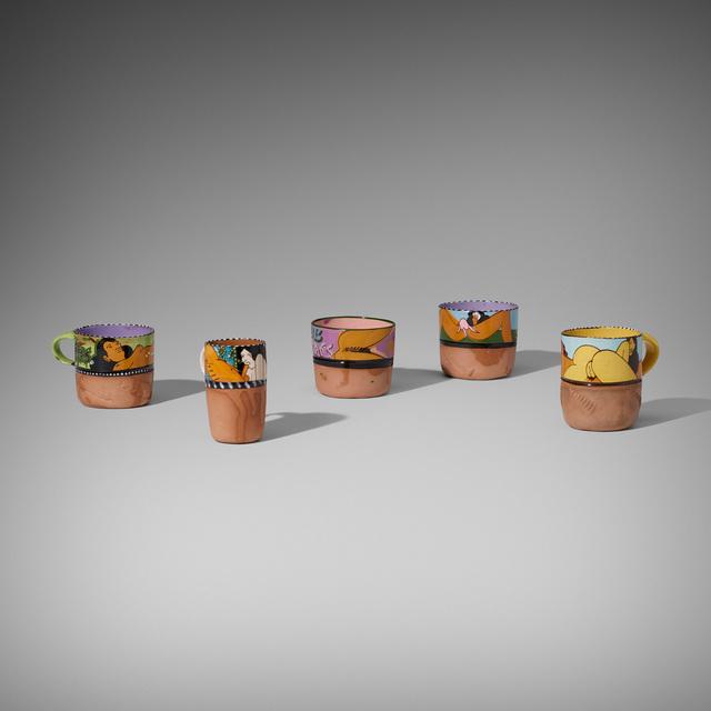 Ken Price, 'Erotic Cups, Set of Five', c. 1975, Wright