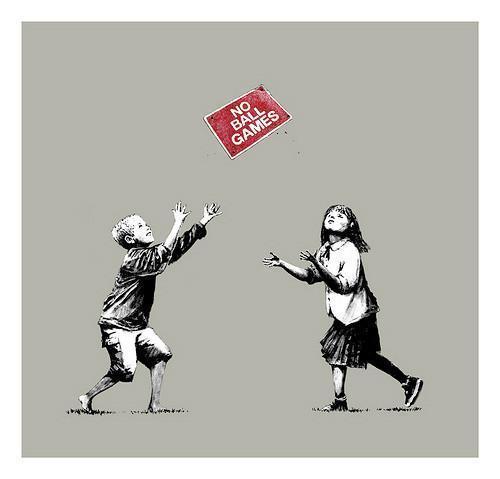 Banksy, 'No Ball Games (Grey)', 2009, Prescription Art
