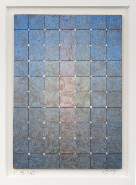 Karl Heinz Adler, 'Farbschichtung mit weißen Püntkchen', 1984, Galerie EIGEN + ART