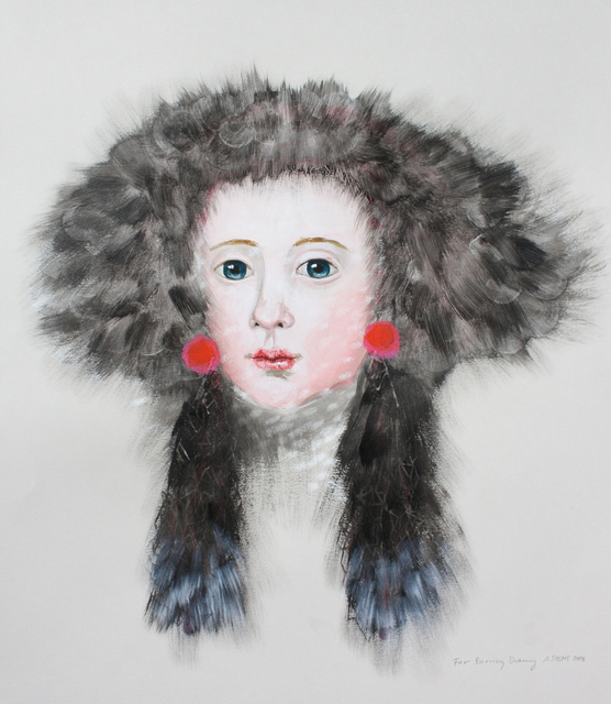, 'Fur Earring Drawing,' 2018, Patricia Rovzar Gallery