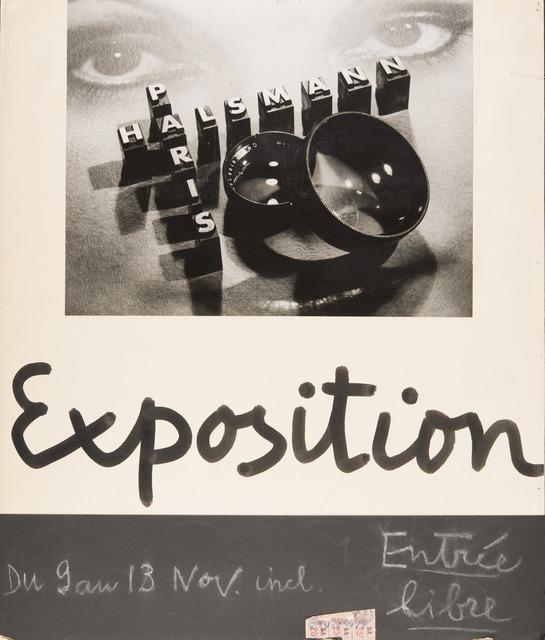 """, 'Poster for the exhibition """"Portraits and Nudes"""" at La Pléiade gallery,' , Musée de l'Elysée"""