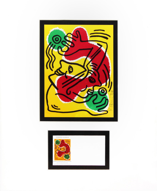 Keith Haring, 'International Volunteer Day', 1988, DANE FINE ART