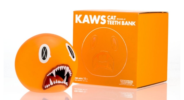 KAWS, 'Cat Teeth Bank (Orange) in original box', 2007, Alpha 137 Gallery